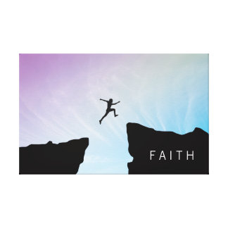 Inspirational Quote. Leap of Faith. Canvas Print