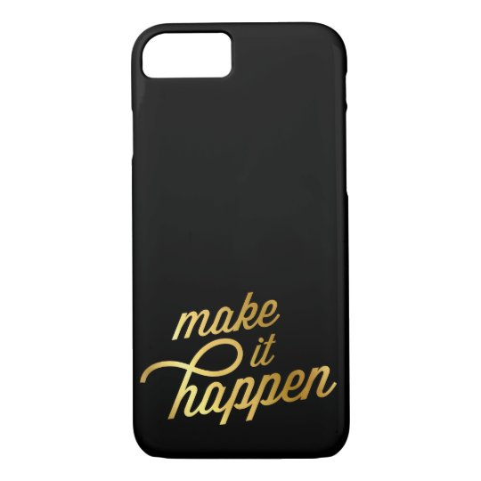 INSPIRATIONAL QUOTE modern typography retro gold iPhone 7 Case