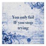 Inspirational Quote   Motivational Don't Give Up Poster