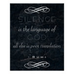 Inspirational Quote on God by Rumi Poster