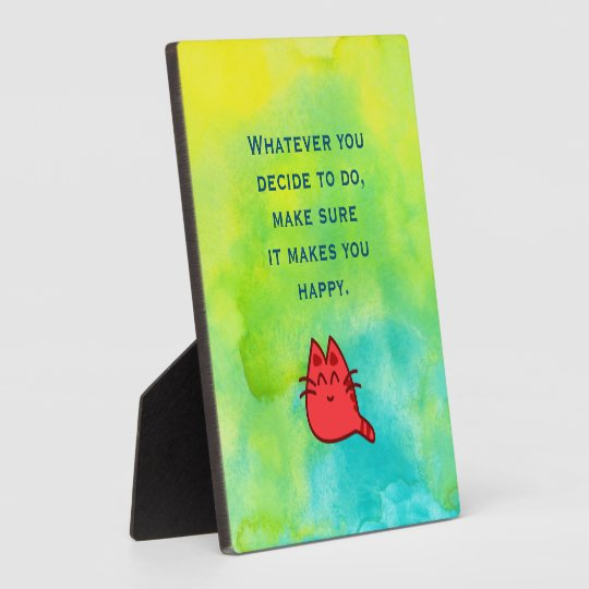 Inspirational Quote on Happiness Plaque