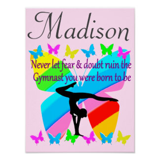 INSPIRATIONAL QUOTE PERSONALIZED GYMNASTICS POSTER