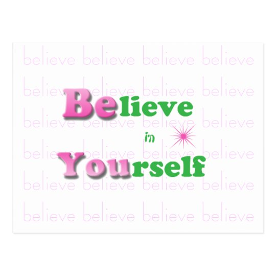 Inspirational Quote Postcard-Believe in Yourself Postcard