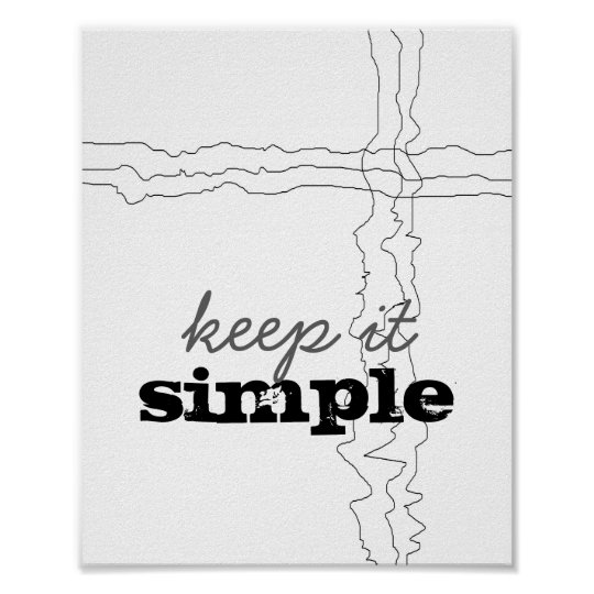 inspirational quote poster keep it simple