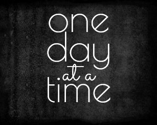 One Day At A Time Art Wall Décor Zazzlecouk