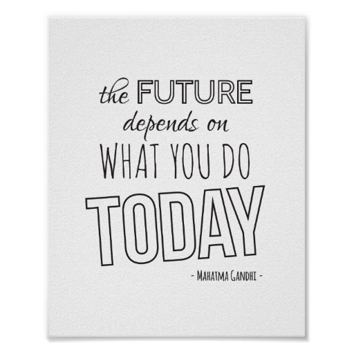Inspirational Quote Poster The Future White Trend Poster