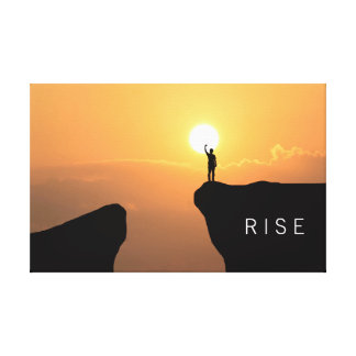 Inspirational Quote.Rise. Canvas Print