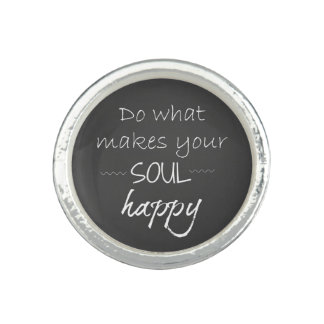 Inspirational Quote: Soul Happy Ring