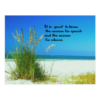 Inspirational Quote The sounds of Silence Postcard