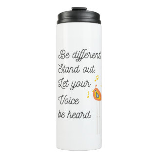 Inspirational Quote Thermal Tumbler