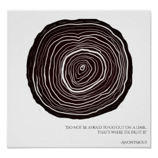 Inspirational Quote | Tree Ring Poster