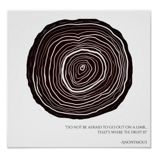 Inspirational Quote   Tree Ring Poster