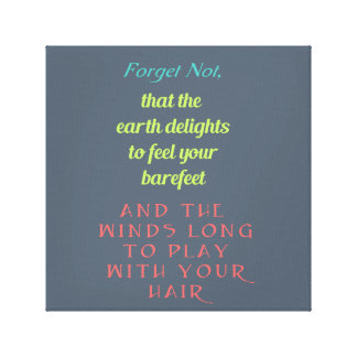 inspirational typography wrapped canvas prints