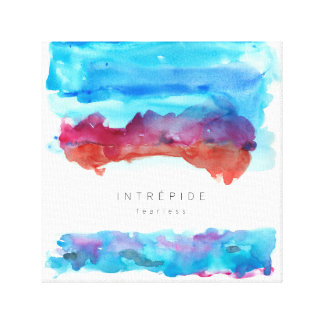Inspirational Quote Watercolour Canvas Art 12 x 12
