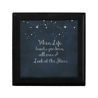 Inspirational Quote: When Life Knocks you Down Gift Box