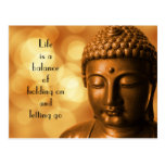 Inspirational Quote with a Buddha Image Postcard