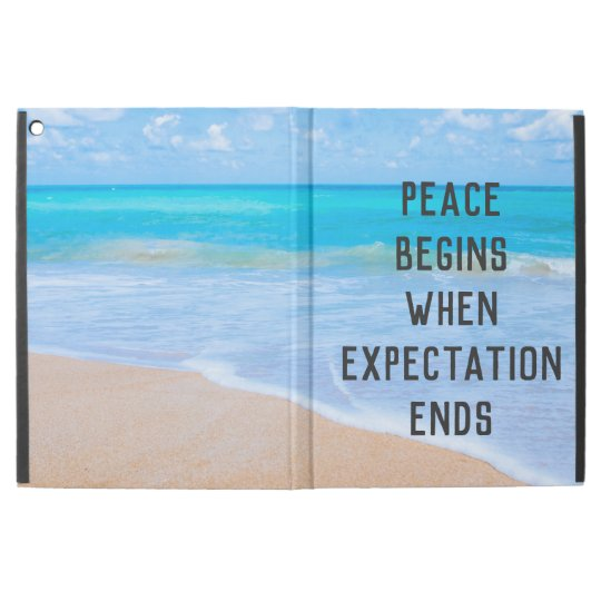 """Inspirational Quote with Tropical Beach Scene iPad Pro 12.9"""" Case"""