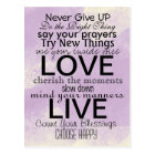 Inspirational Quotes and Sayings Postcard