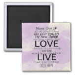 Inspirational Quotes and Sayings Square Magnet