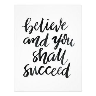 Inspirational Quotes:Believe And You Shall Succeed 21.5 Cm X 28 Cm Flyer