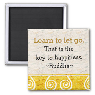 Inspirational Quotes Buddha|Happiness Square Magnet