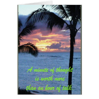 Inspirational Quotes Card Greeting Card