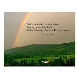 Inspirational Rainbow Scene & (Optional) Saying PC Postcard