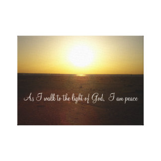 inspirational religious sunset and beach canvas print
