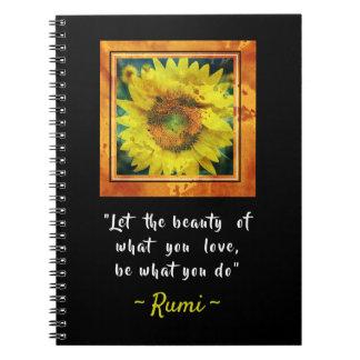 Inspirational Rumi Quote Notebooks