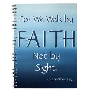 Inspirational Scripture FAITH Ocean Air Notebook