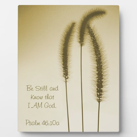 Inspirational Scripture Fine Art Brown Grass Heads Plaque