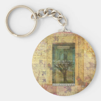 Inspirational Shakespeare quote about THE FUTURE Basic Round Button Key Ring