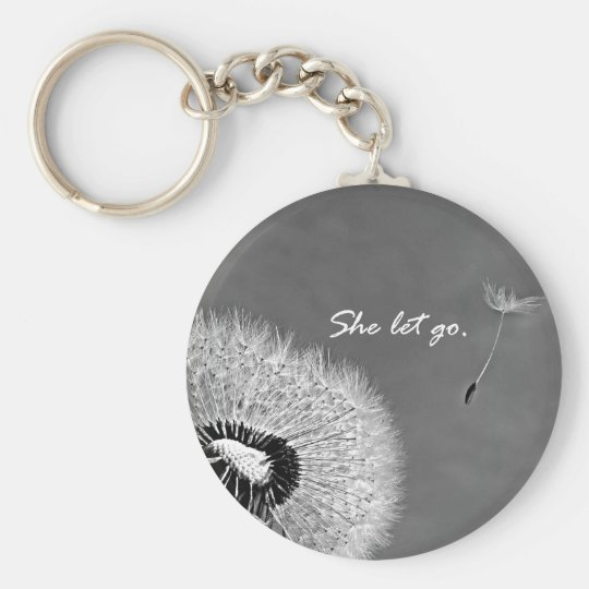 Inspirational She Let Go Quote with Dandelion Key