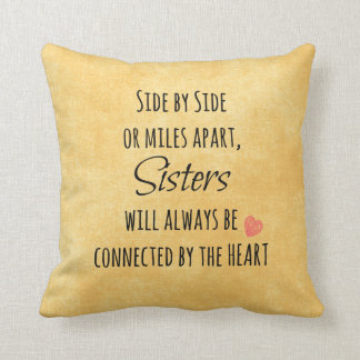 Inspirational Sister Quote Cushion