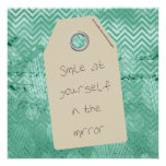 Inspirational Smile at Yourself Quote Poster