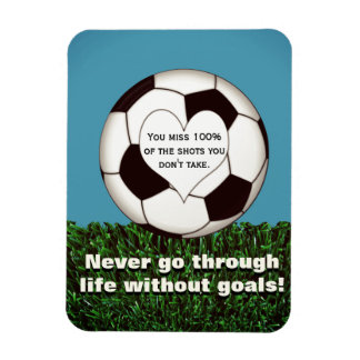 Inspirational Soccer Rectangular Photo Magnet