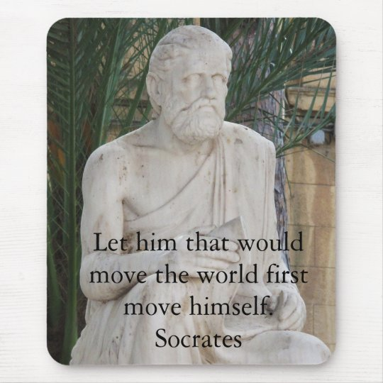 Inspirational Socrates Quote Mouse Mat