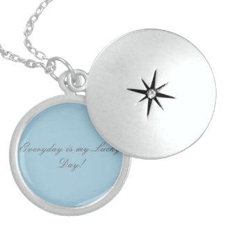 inspirational sterling silver locket necklace