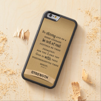 Inspirational Strength Bible Verse Carved® Maple iPhone 6 Bumper