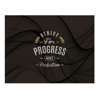 Inspirational - Strive for progress Postcard
