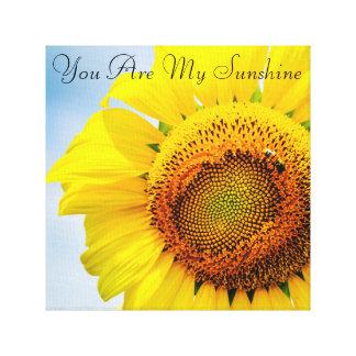 Inspirational Sunflower Canvas Wall Art