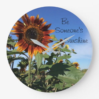 inspirational sunflower clock