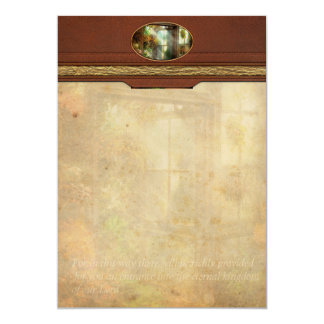 """Inspirational - The door to paradise - Peter 1-11 5"""" X 7"""" Invitation Card"""