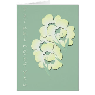 Inspirational Thinking of You greeting card