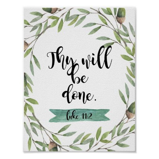 "Inspirational ""Thy will be done"" Poster"