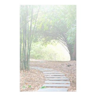 Inspirational Tranquil Bamboo Path Trail Custom Customized Stationery