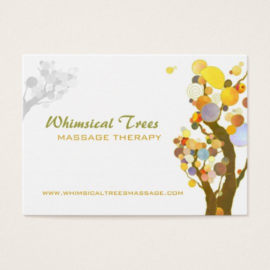 Inspirational Trees Massage Therapy Business Cards
