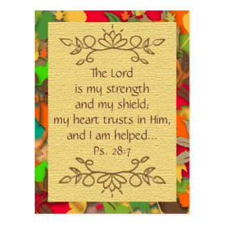 Inspirational-Trusting in the Lord-Postcard Postcard