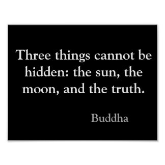 Inspirational Truth Buddha Quote Poster