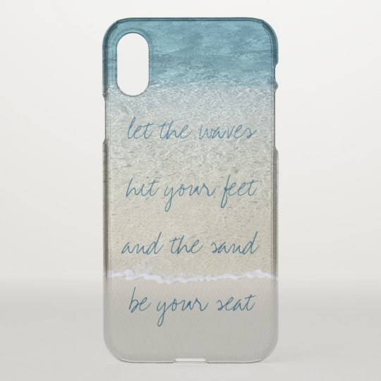 Inspirational Turquoise Blue Ocean Surf Waves iPhone X